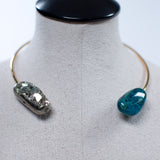 Seraphine Design Chrysocolla & Pyrite Choker Necklace