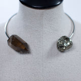 Seraphine Design Smoky Quartz & Pyrite Choker Necklace