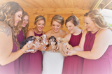 Bridesmaids Ditch The Flowers And Carry Rescue Puppies Down Aisle Instead To Help Them Find Homes