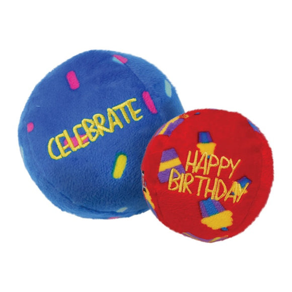 Kong Occasions Birthday Balls Dog Toy - Pet-Icure Pet Supplies Pepperell Massachusetts All Breeds All Stages Balls Dog Kong