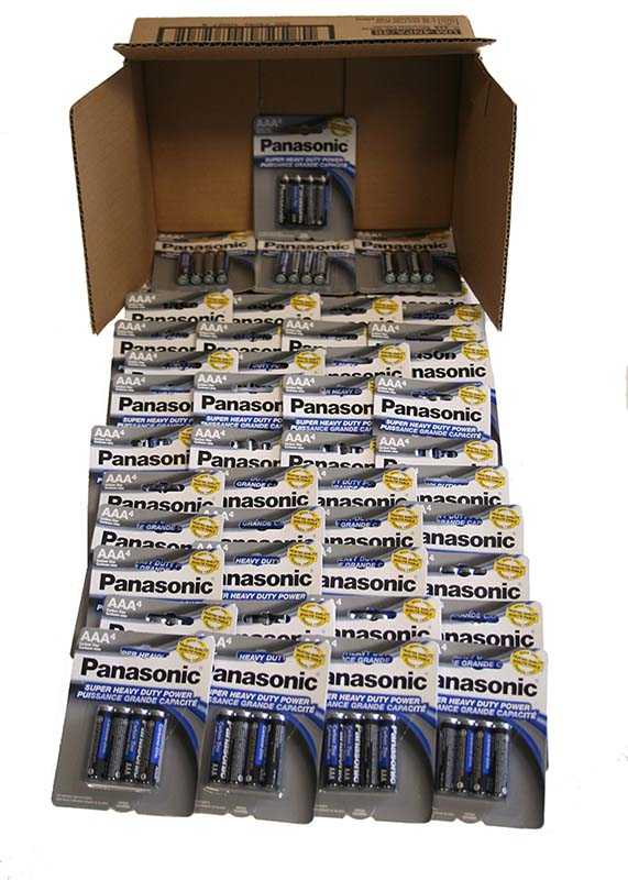 Case of 192 AAA Batteries