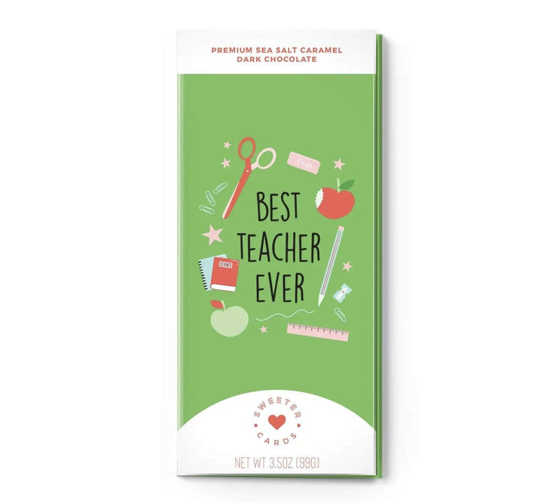 Best Teacher Ever - Sweeter Chocolate Greeting Card Fun stuff Rockin The Lace Boutique