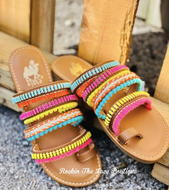 Bright Boho Sandal Footwear Rockin The Lace Boutique