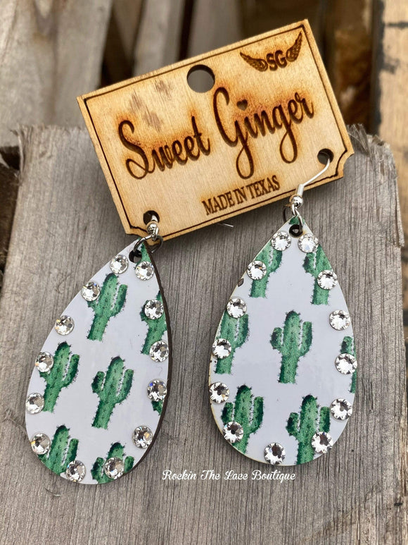 Cactus Lover - Sweet Ginger Earrings Jewelry Rockin The Lace Boutique