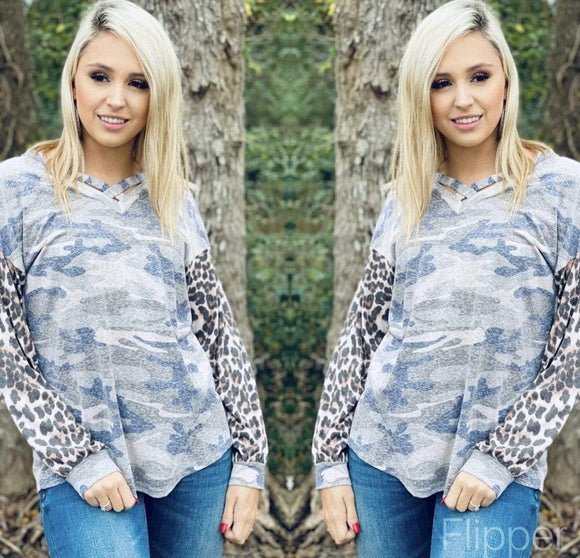 Camo & Leopard Criss Cross Small Clearance Rockin The Lace Boutique