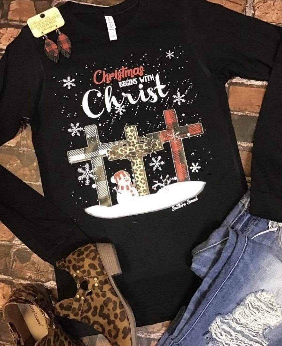 Christmas Begins with Christ Clearance Rockin The Lace Boutique