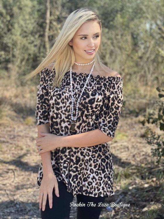 Close To You - Leopard Tops Rockin The Lace Boutique