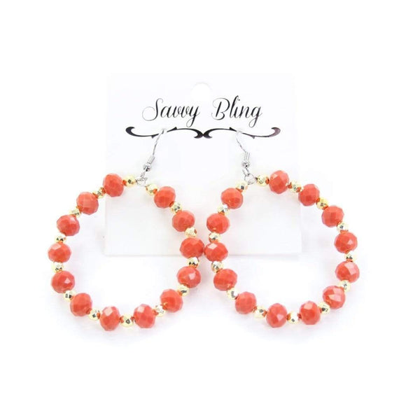 Coral Perfection Hoop Jewelry Rockin The Lace Boutique