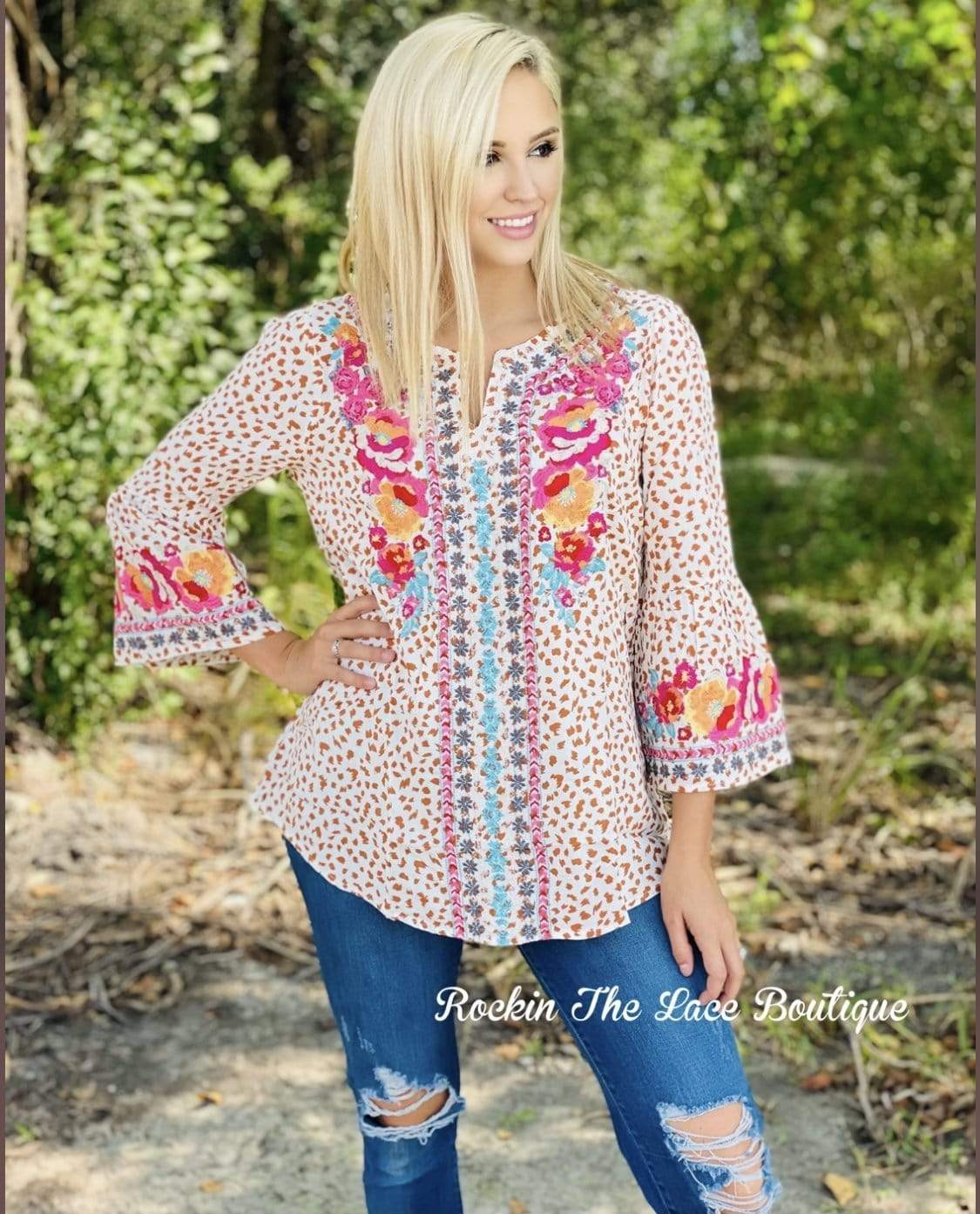Embroidered Floral Tunic New Rockin The Lace Boutique