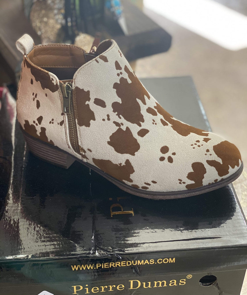 Kenzie Cow Bootie - Brown Clearance Rockin The Lace Boutique
