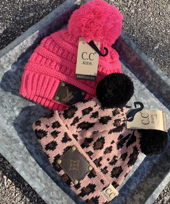Kids Upcycled Beanie Clearance Rockin The Lace Boutique