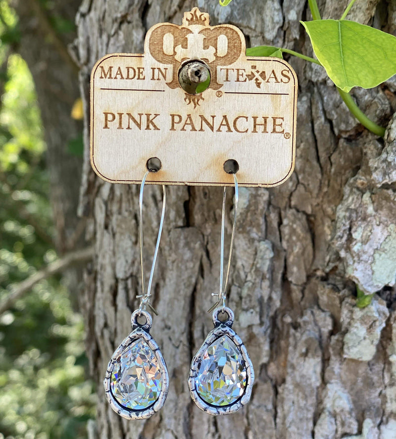 Large Distressed Pear Shape Earring - Pink Panache pink panache Rockin The Lace Boutique