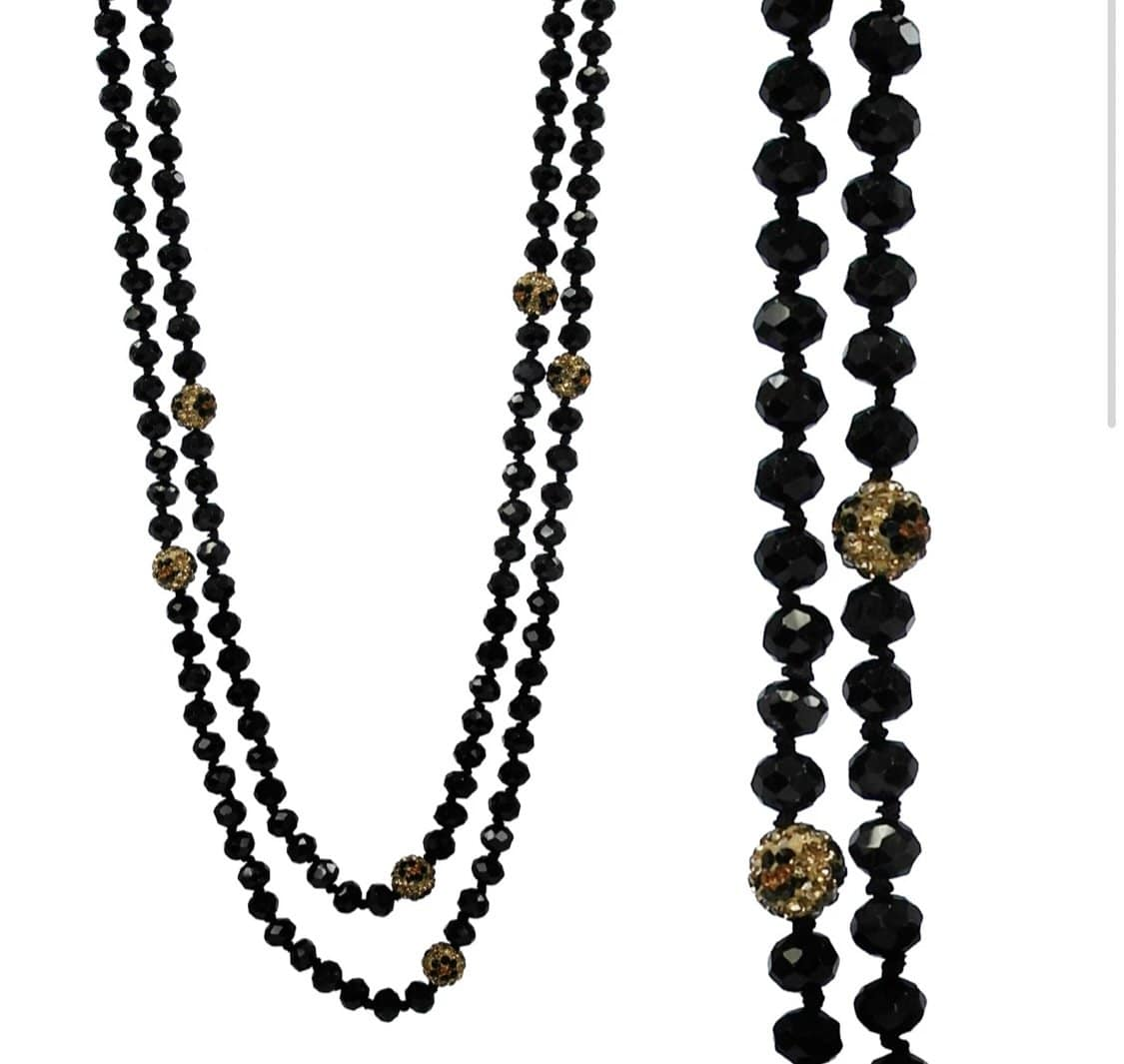 Leopard & Black Knot Necklace Jewelry Rockin The Lace Boutique