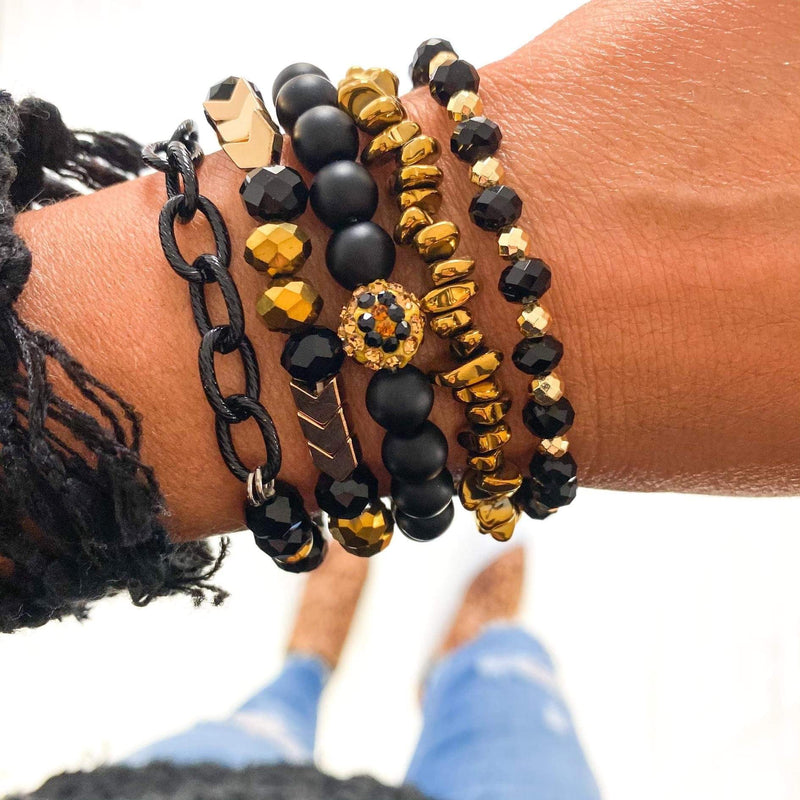 Leopard & Black Stack Jewelry Rockin The Lace Boutique