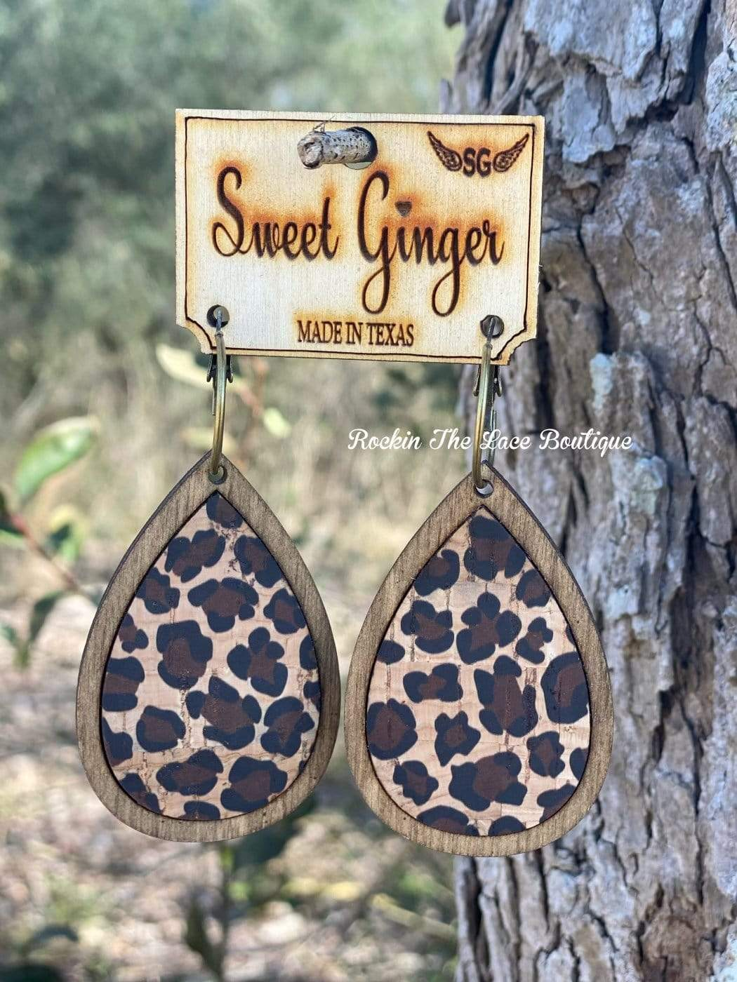 Leopard Earring - Sweet Ginger Jewelry Rockin The Lace Boutique