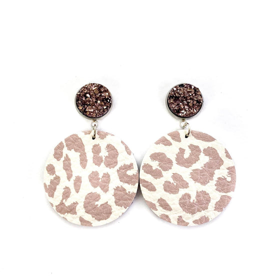 Light Leopard Round Earrings Jewelry Rockin The Lace Boutique