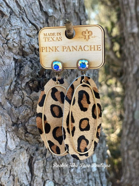 Lucy Leopard Earring - Pink Panache Jewelry Rockin The Lace Boutique