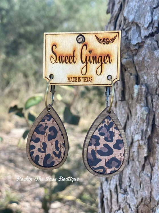 Mini Leopard Earrings - Sweet Ginger Jewelry Rockin The Lace Boutique