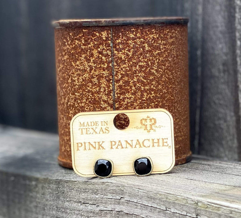 Mini Stud - Black pink panache Rockin The Lace Boutique