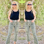 Olive Leopard Mom Fit Pants Bottoms Rockin The Lace Boutique