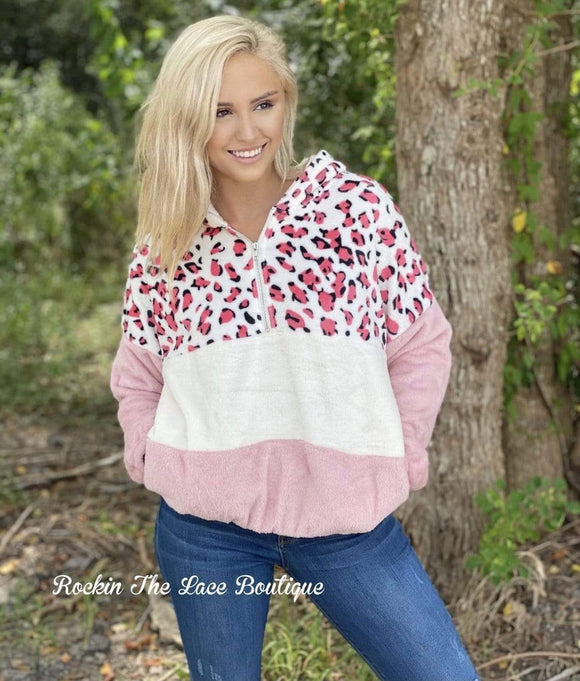 Pink Cheetah Sherpa Clearance Rockin The Lace Boutique