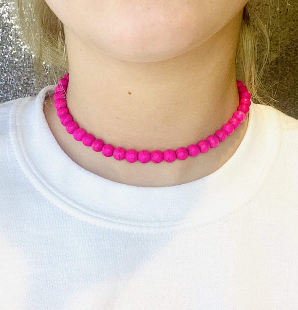 Pink Marble Choker New Rockin The Lace Boutique