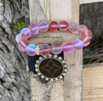 Pink Moonstone Upcycled Bracelet New Rockin The Lace Boutique