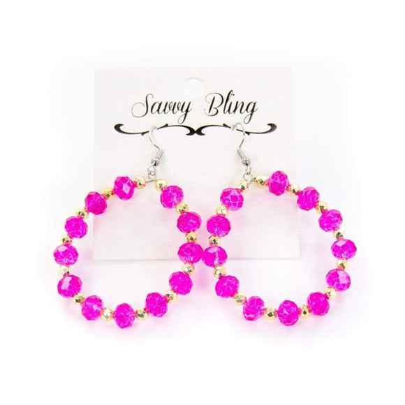 Pink Perfection Hoop Jewelry Rockin The Lace Boutique