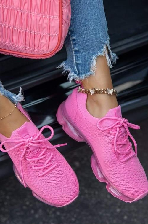 Pink Tennis Shoe Footwear Rockin The Lace Boutique