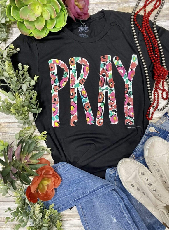 Pray - Floral Tops Rockin The Lace Boutique
