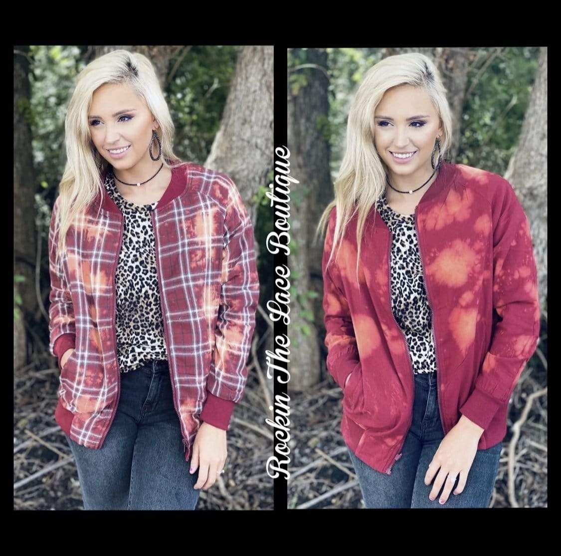 Reversible Bleached Jacket Clearance Rockin The Lace Boutique