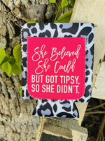 She Believed She Could Koozie Fun stuff Rockin The Lace Boutique