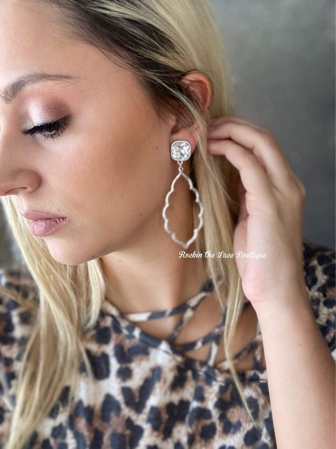 Silver Darlin' Earring Jewelry Rockin The Lace Boutique