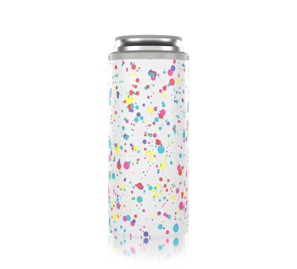 Slim Can Cooler - Splattered Fun stuff Rockin The Lace Boutique