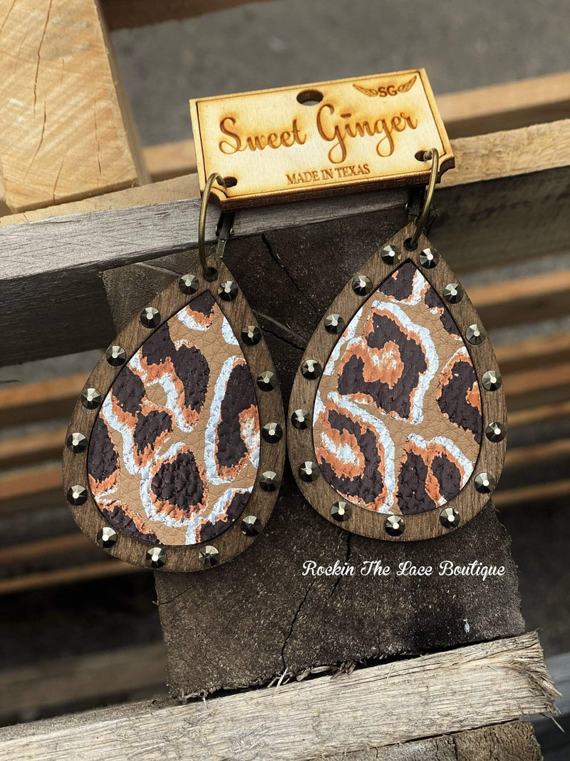 Split Decision Metallic - Sweet Ginger Earring Large Jewelry Rockin The Lace Boutique