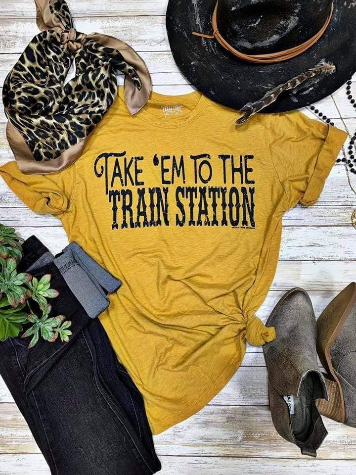 Take Em' To The Train Station tops Rockin The Lace Boutique