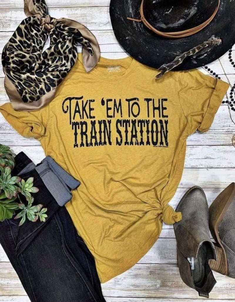 Take'Em To The Train Station Tops Rockin The Lace Boutique