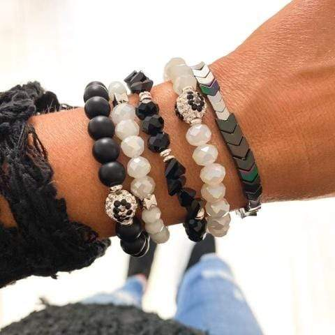 The Black & White Stack Jewelry Rockin The Lace Boutique
