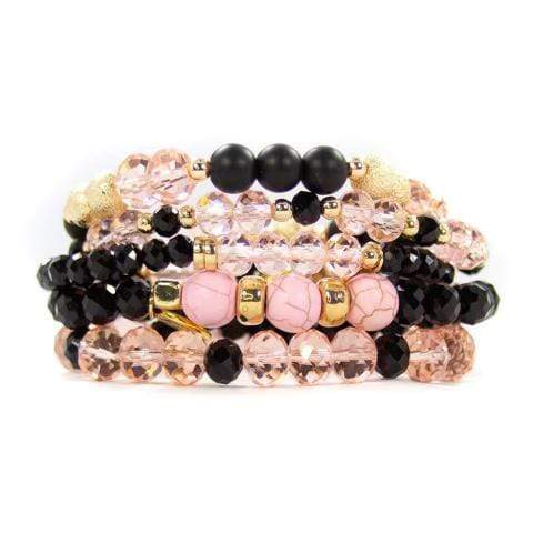 The Pink & Black Stack Jewelry Rockin The Lace Boutique