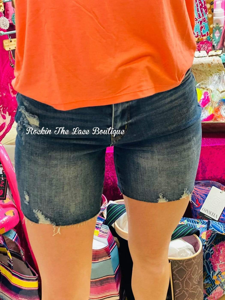 Tracy Denim Shorts - Judy Blue Bottoms Rockin The Lace Boutique