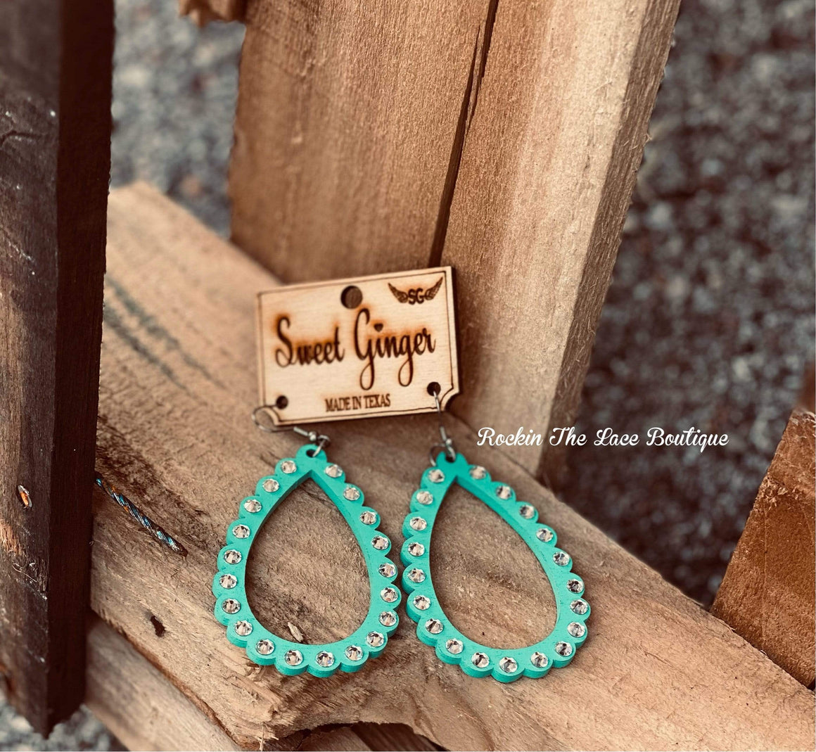 Turquoise Loops - Sweet Ginger Jewelry Rockin The Lace Boutique