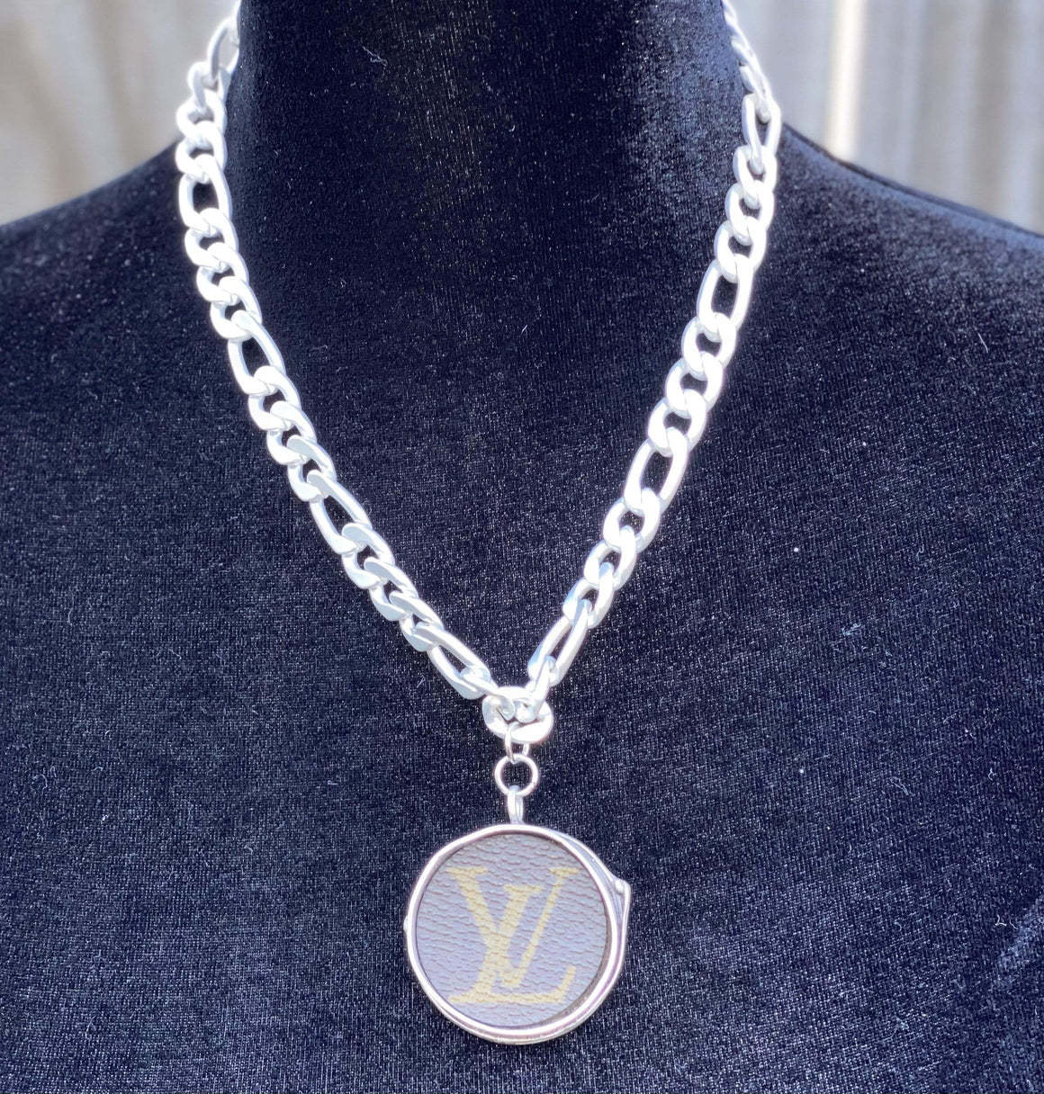 Upcycled White Gold Necklace Jewelry Rockin The Lace Boutique