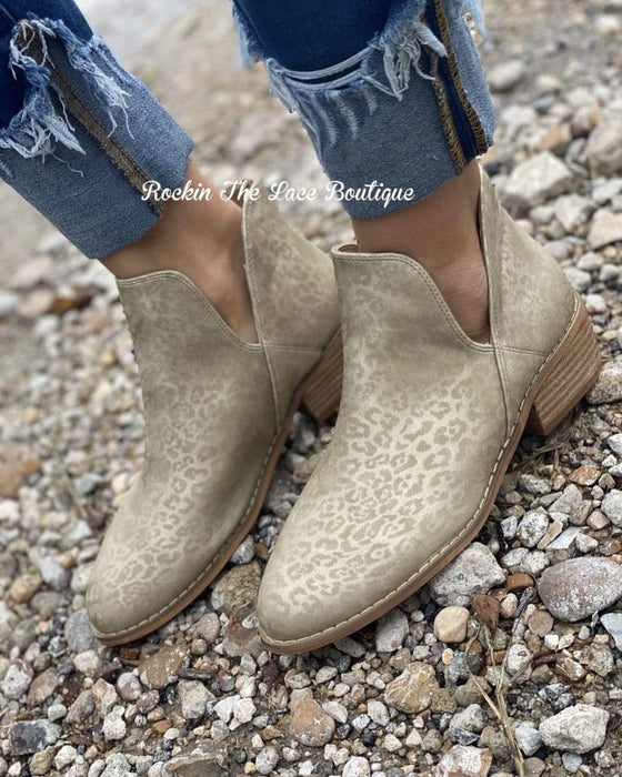 Wayland Gold Leopard Bootie Clearance Rockin The Lace Boutique