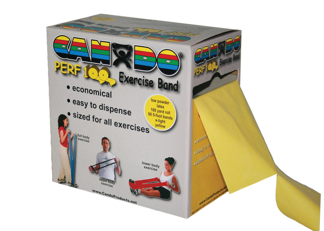 CanDo® Perf 100® Low Powder Exercise Band