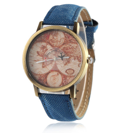 Montre WorldMap Vintage