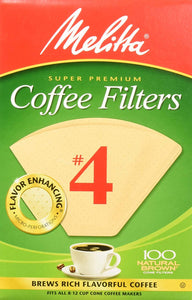 Melitta #4 Cone Filter Paper Natural Brown - 40 Count