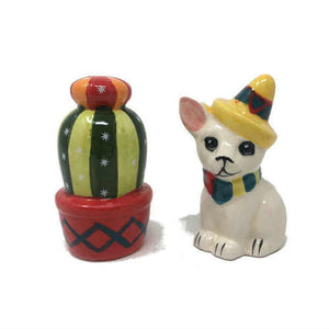 Boston Warehouse Cactus & Chihuahua Salt and Pepper Shakers