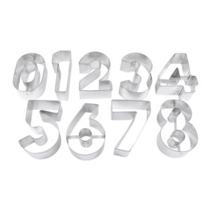 R&M International, Numbers Cookie Cutters, 9 piece set