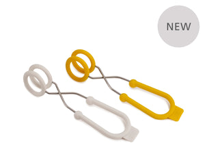 Joseph Joseph Set of Two O-Tongs - Yellow/White