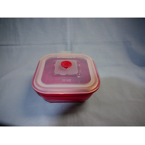 Collapse-It Rectangle, 4 Cup Storage Container-Magenta Base